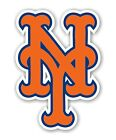 "New York Mets  ""NY"" (Orange)  Decal / Sticker Die cut"