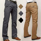 Mens Formal Business Pants Wedding Slim Fit Straight Suits Skinny Dress Trousers