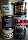 BATH & BODY WORKS 3 WICK CANDLES BIRTHDAY LOVE MOM DAD STRAWBERRY CHERRY MERLOT