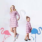 Fashion Family Matching Dress Mother And Daughter Girl Dress Flamingo Summer UK