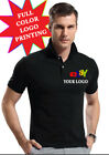 Custom Personalized T-Shirt Printing POLO SHIRT (Your Logo or Text) Full Color image