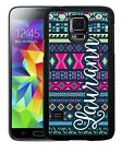 PERSONALIZED RUBBER CASE FOR SAMSUNG NOTE 8 5 4 3 HOT PINK NAVY AZTEC TRIBAL