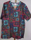 Fashion Scrubs Top NWOT Nurse Vet Dental CNA Child Care Sz M L Ornamental