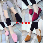 Fashion Women Ladies Slip On Casual Flats Boat Single Shoes Leather Loafers US