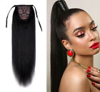 """16""""-24"""" Straight String Clip-in High Ponytail 100% Remy Human Hair Extension 80g"""