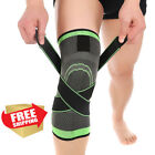 3D Weaving Knee Brace Breathable Support Running Jogging Sport Joint Pain-L M XL