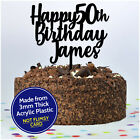 Fifty 50th Personalised Happy Birthday Cake Topper ANY AGE Decoration ANY NAME