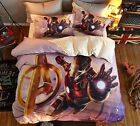 *** Iron Man Flying out Queen Bed Quilt Cover Set - Flat or Fitted Sheet ***