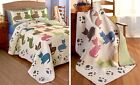 Quilted Meow Bedding Collection Cat Silhouettes & Paw Pri...
