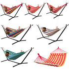 Portable Hammock Stand Outdoor Patio Strong Camping Beach Double W/Carrying Bag