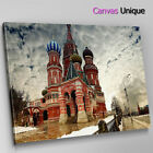 SC164 St Basils Cathedral Moscow Scenic Wall Art Picture Large Canvas Print