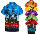 Herren Hawaiihemd Hawaii Herrenabend Palme Holiday Strand Schwimmbad Sommer