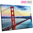 SC325 Golden Gate Bridge Scenic Wall Art Picture Large Canvas Print