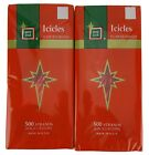 Hard to find GOLD BLUE or RED TINSEL Vintage Look Christmas Icicles USA MADE