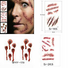 10 Sheets Halloween Wound/Scab/Blood Zombie Scar Tattoos Sticker Lots