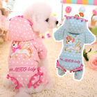 Dog Jumpsuit Unicorn Embroidery Pet Cat Coat Jacket Warm Fall Winter Clothes