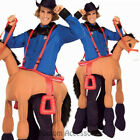CL829 Just Horse N Round Rider Riding Cowboy Men Western Wild West Funny Costume