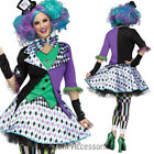 CA70 Mad Hatter Womens Alice in Wonderland Fancy Dress Book Week Costume Outfit