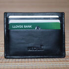 Kyпить Real Leather ID Credit Card Holder Wallet Slim Pocket Case Cardholder Black  на еВаy.соm