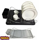 Dish Drainer With Easy Detachable Drip Tray - Cutlery Holder 100% Chrome