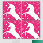 2 X Pink Unicorn Uk Light Switch Stickers, Living Room Bedroom Nursery Decor