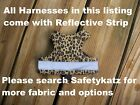 SafetyKatz Walking Jacket Cat Harness Reflective Strip Reversable Safety Cat