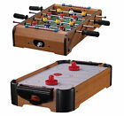 WOODEN MINI TABLE TOP DESKTOP FOOTBALL AIR HOCKEY GAME FUN GIFTS LIGHTWEIGHT NEW