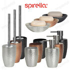 Spirella Darwin Hammered Bathroom Accessory Set Bath Ceramic Tumbler 2 3 4 Piece