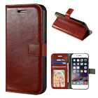 Stand Leather Card Wallet Magnetic Case Cover For Samsung Galaxy iPhone 6 7 Plus