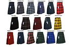 Men's 5 Yard Scottish Kilts Tartan Kilt 13 oz Highland Casual Kilt 21 Tartans