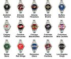 Pro Ice Hockey League Team Variety Logo Ladies Italian Charm Wrist Watch Set 1 $16.99 USD on eBay
