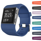 Men Womens Sports L/Small Silicone Replacement Strap Wristband For fitbit surge
