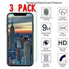 3-PACK 9H+ Premium Tempered Glass Screen Protector For iPhone 8/X/7/6 6sSE 8Plus