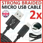 1M 2M Heavy Duty BRAIDED Micro-USB Fast Charge Cable Fits Samsung S5 S6 S7 Lot