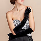 Women Lady Winter Long Warm Velvet Gloves Party Wedding Banquet Gloves