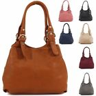 Womens Ladies Designer Style Italian Fashion Slouch Buckled Tote Handbag Bag