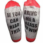 Unisex Socks Wine Socks If You Can Read This Bring Me A Glass Of Wine NEW