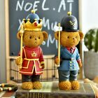 New 23Cm Christmas Nutcracker Teddy Bear Soldier Vintage Wooden Table Walnut