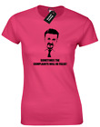 DAVID BRENT - SOMETIMES THE COMPLAINTS LADIES T SHIRT FUNNY PRINTED DESIGN RETRO