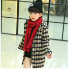 2017 NEW kids Plaid Wool Coats Girls coat Winter Jacket hooded