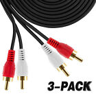 [1-5-Pack] 2RCA Male to 2RCA Male Stereo Audio Cable Lead Gold Plated Head-6Feet
