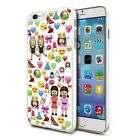 For Various Phones Design Hard Back Case Cover Skin - Emoji Family