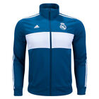 adidas Men's Real Madrid 3 Stripes Jacket Petnit/White BR2496