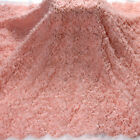 New Pink heavy beaded fashion thread hight quality embroidered dress lace fabric