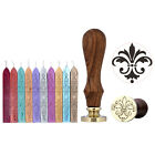 DIY Retro Vintage Blessing Seal Wax Stamp+10pc Wax Sticks For Wedding Logo Craft