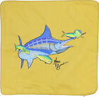 Embroidered Cushion Pillow Cover Marine Art Throw Pillow Blue Marlin and Mahi