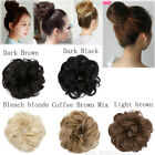 Real Natural Curly Messy Bun Hair Piece Scrunchie Fake Hair Extensions Women UK