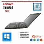 Lenovo Thinkpad X240 Core I5-4300u 4-8gb Windows 10/7  Ssd Hdd Office 16