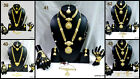 Golden Polish Bollywood Bridal Party 9pcs Necklace Set Halloowen Karwachauth