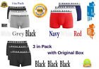 Men's 3 in pack HUGO BOSS Dynamic Stretch Cotton Boxers with Original Box